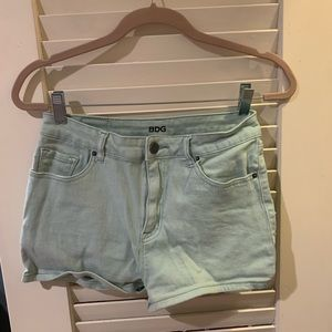 "BDG distressed jean shorts 28"" W"